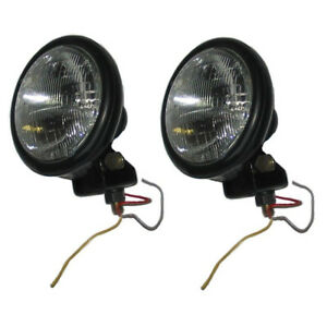E4nn13005ha 12v Tractor Headlight Assembly Pair For Ford 2000 3000 3600 4000