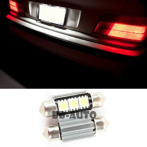 For Bmw Mercedes Benz Audi Canbus Led Xenon 3 Smd 36mm Light Bulbs X2 6411 6418