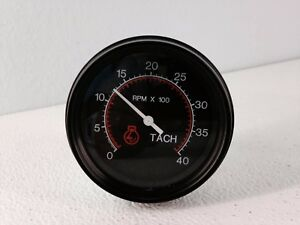 Datcon 0 4000 Rpm 3 3 8 Tachometer Gauge 12 24 Volt 71076 00 86mm Tach Black