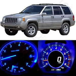 For 93 198 Jeep Grand Cherokee Gauge Cluster Blue Led Kit Dash Instrument Light