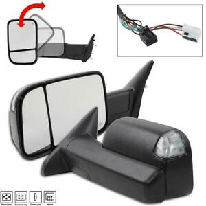 Pair For 2009 2012 Dodge Ram Pickup Power Heat Turn Puddle Signal Towing Mirrors