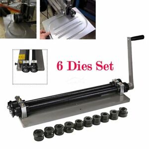 Sheet Metal Bead Roller Steel Gear Drive Bench Mount 18 gauge Capacity