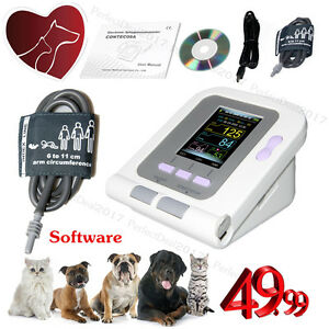 Veterinary Blood Pressure Monitor Automatic Animal Nibp Heart Rate Monitor pc Cd