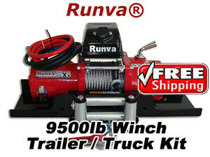 9500lb New Runva 12v Towing Recovery Electric Winch Kit W Short Drum tt Kit