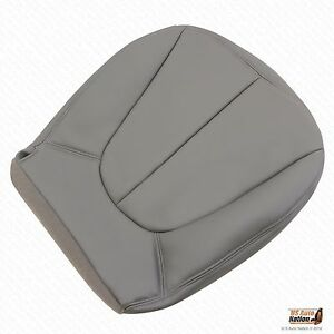 99 00 Ford Expedition Xlt Eddie Bauer Passenger Bottom Leather Seat Cover Gray