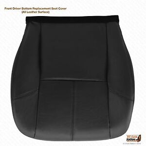 2011 2012 2013 Gmc Yukon Denali Driver Side Bottom Leather Seat Cover Black