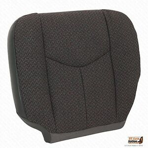 2003 2007 Chevy Silverado Work Truck driver Side Bottom Cloth Seat Cover Dk Gray