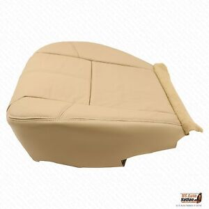 2007 2008 2009 Chevy Silverado 2500hd Lt Driver Bottom Leather Seat Cover Tan