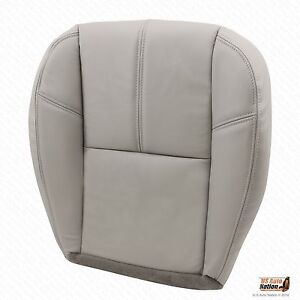 2007 2014 Chevy Silverado Driver Replacement Bottom Leather Seat Cover Gray 833