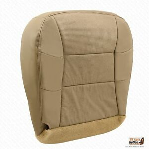 2000 2001 2002 Lincoln Navigator Passenger Side Bottom Perforated Seat Cover Tan
