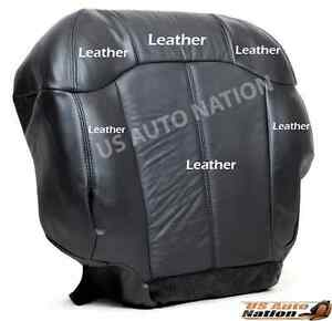 2000 2001 2002 Chevy Silverado Driver Bottom Leather Seat Cover Graphite Gray