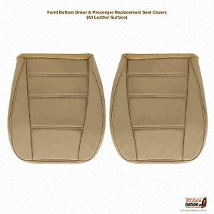 2002 2003 2004 Ford Mustang V6 Driver Passenger Bottom Leather Seat Cover Tan