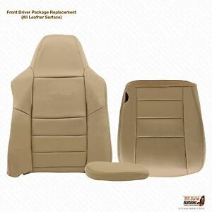 02 07 Ford F250 F350 Lariat driver Bottom top Armrest Leather Seat Covers Tan