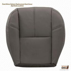 2008 Chevy 1500 Hd Wt Work Truck Driver Bottom Vinyl Seat Cover Gray