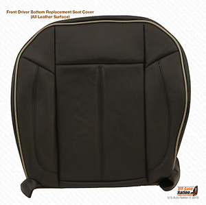 2006 2010 Hummer H3 Driver Side Bottom Replacement Leather Seat Cover Black
