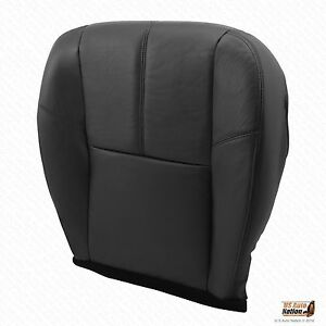 2010 2011 2012 Chevy Avalanche Lt Driver Bottom Leather Seat Cover Color Black