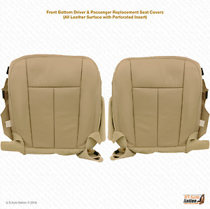 2007 2014 Ford Expedition Driver Passenger Bottom Cover Perforated Leather Tan