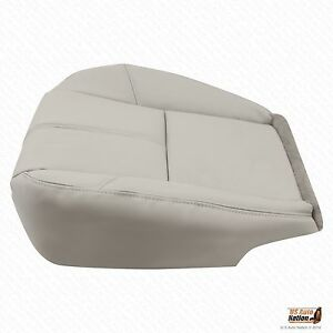 2011 2012 Gmc Sierra 1500 2500 3500 Driver Side Bottom Leather Seat Cover Gray