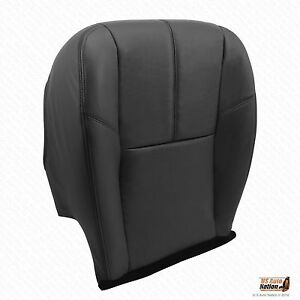 2010 2011 2012 2013 Chevy Silverado 1500 Driver Bottom Leather Seat Cover Black