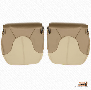 2000 Gmc Yukon Denali Driver Passenger Bottom Leather Seat Cover Two tone Tan