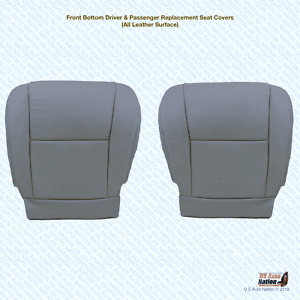 Front Left And Right Bottoms Gray Leather Seat Cover Fits 2006 Toyota Sequoia