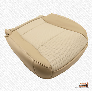 2007 Mercury Mountaineer Driver Side Bottom Leather Seat Cover Two Tone Tan