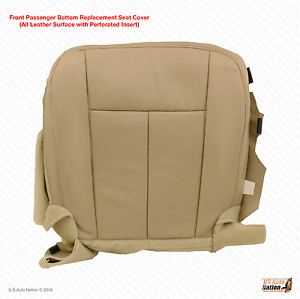 2007 2008 Ford Expedition Passenger Bottom Seat Cover Perforated Leather Tan