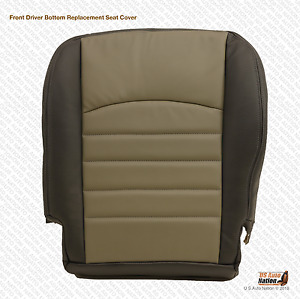 2009 2010 Dodge Ram 5500 Driver Bottom Replacement Synthetic Leather Seat Cover