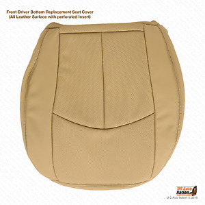 2008 2009 Mercedes Benz E350 Driver Bottom Perforated Leather Seat Cover Tan