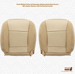 2010 Ford Explorer Driver passenger Bottom Seat Cover Perforated Leather Tan