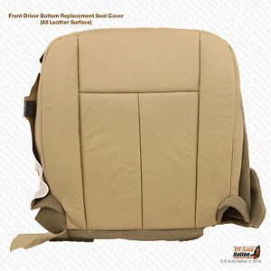 2008 Ford Expedition Driver Side Bottom Replacement Leather Seat Cover Tan