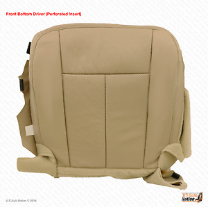 2007 2014 Ford Expedition Driver Side Bottom Seat Cover Perforated Leather Tan
