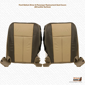2011 2012 Ford Expedition Eddie Bauer Driver Passenger Bottom Leather Seat Cover