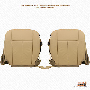2009 2010 Ford Expedition Driver Passenger Bottom Leather Seat Cover Tan