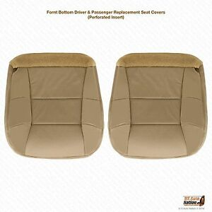 2000 2002 Lincoln Navigator Driver Passenger Bottom Perforated Seat Cover Tan