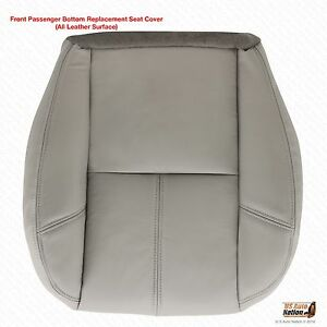 2007 2008 Chevy Avalanche Passenger Side Bottom Leather Seat Cover Gray 833