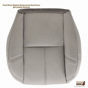 2007 2008 Chevy Avalanche Lt Ls Z71 Driver Bottom Leather Seat Cover Gray 833