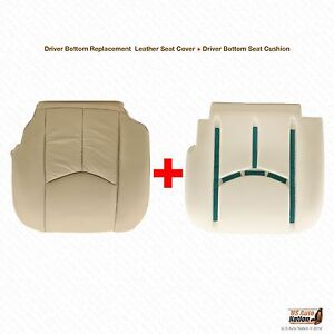 2003 To 2006 Cadillac Escalade Driver Bottom Perforated Leather Cover Foam Tan
