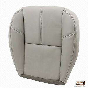 2010 2011 2012 Chevy Silverado 3500hd Driver Bottom Leather Seat Cover Gray 833