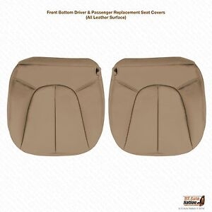 2000 Expedition Xlt Driver Passenger Bottom Leather Seat Cover Tan