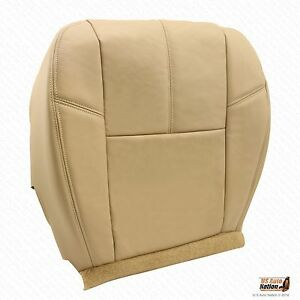 2011 2012 2013 Chevy Avalanche Driver Bottom Leather Seat Cover Color Tan
