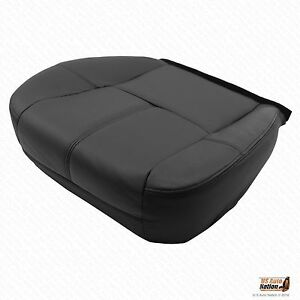 2007 2008 Chevy Suburban 1500 Driver Replacement Bottom Leather Seat Cover Black