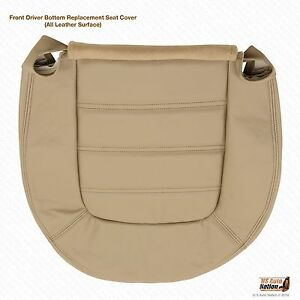 2002 Ford Explorer Front Driver Bottom Leather Seat Cover Medium Parchment Tan