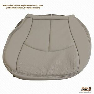 2004 Mercedes Benz E320 E500 Driver Bottom Perforated Leather Seat Cover Gray