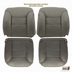 1996 Chevy Suburban Tahoe Front Driver passenger Complete Seat Covers Gray