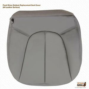 97 02 Ford Expeditionxlt Sport Eddie Bauer Driver Bottom Leather Seat Cover Gray