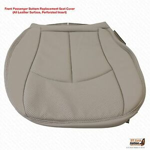 2003 2006 Mercedes E320 Passenger Bottom Perforated Leather Seat Cover Ash Gray