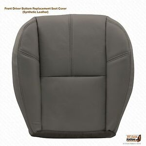 2011 Chevy 1500 Hd Wt Work Truck Driver Bottom Vinyl Seat Cover Gray