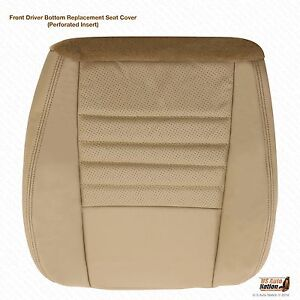 1999 2000 Ford Mustang Gt Driver Side Bottom Replacement Leather Seat Cover Tan