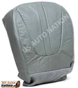 2001 Ford Expedition Eddie Bauer Xlt Driver Side Bottom Leather Seat Cover Gray